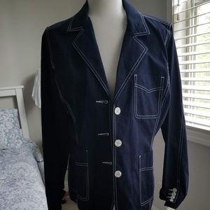 Navy Jacket with So Many Details!